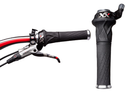 自転車の 自転車 ハンドル グリップ 汚れ : SRAM XX グリップシフト 10Sリア/00 ...