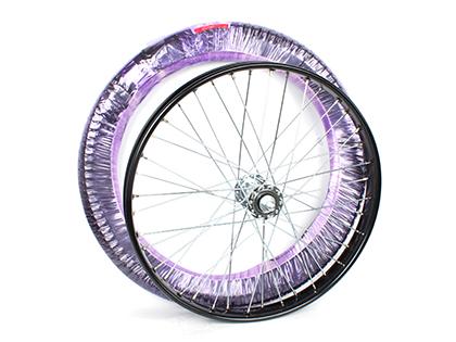 自転車の 自転車 タイヤ ホイール 交換 価格 : リヤカー用 完組み車輪 タイヤ ...