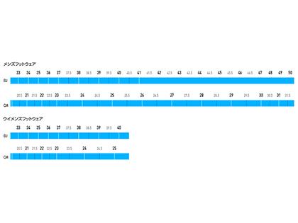 サイズ表。