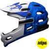 BELL SUPER 3R MIPS(スーパー3Rミップス) <マットフォースブルー/ホワイト> MTBフルフェイスヘルメット