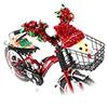 自転車クリスマスデコレーション
