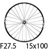 """シマノ XT WH-M8020-TL-F15-275 MTBホイール27.5""""フロント用(15x100mmEスルー)"""