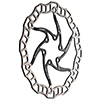 ASHIMA�@�G�A�[���[�^�[ �u���b�N DISC���[�^�[ 203mm �i�X�`�[���{���g�t�j