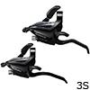 シマノ ST-EF500 ブラック シフト/ブレーキレバー 左のみ(3S)