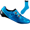 シマノ RC9(SH-RC900)ブルー SPD-SL ロードシューズ(ソックス付) 特価品(現品限り)