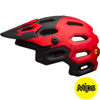 BELL SUPER 3 MIPS(スーパー3ミップス) <マットレッド/マルサラ/ブラック> MTBフルフェイスヘルメット