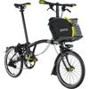"""BROMPTON 17'S6L <ブラック/ブラック ニューヨーク> 折畳自転車 16"""" 前後ライト&バッグ付き"""