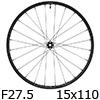"""シマノ WH-MT600-TL-F15-B-275 MTBホイール27.5""""フロント用(15x110mmEスルー)"""