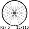 """シマノ WH-MT500-CL-F15-B-275 MTBホイール27.5""""フロント用(15x110mmEスルー)"""