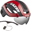 LAZER BULLET2.0 AF+LENS+LED(バレット2.0 アジアンフィット+レンズ+LED) <レッド> ロードヘルメット【心拍センサーライフビーム付き】限定セット