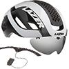 LAZER BULLET2.0 AF+LENS+LED(バレット2.0 アジアンフィット+レンズ+LED) <ホワイト> ロードヘルメット【心拍センサーライフビーム付】限定セット