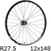 """シマノ XT WH-M8120-TL-R12-B-275 MTBホイール27.5""""リア用(12x148mmEスルー/マイクロスプライン)"""