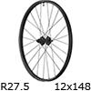"""シマノ WH-MT620-TL-R12-B-275 MTBホイール27.5""""リア用(12x148mmEスルー/マイクロスプライン)"""