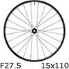 """シマノ WH-MT620-TL-F15-B-275 MTBホイール27.5""""フロント用(15x110mmEスルー)"""