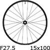 """シマノ WH-MT601-TL-F15-275 MTBホイール27.5""""フロント用(15x100mmEスルー)"""