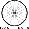 """シマノ WH-MT601-TL-F15-B-275 MTBホイール27.5""""フロント用(15x110mmEスルー)"""